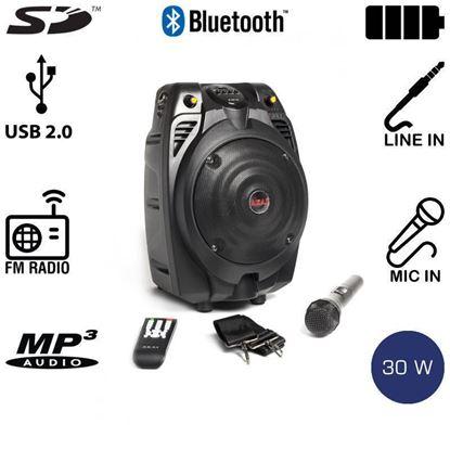 Εικόνα της Akai SS022A-X6 Φορητό Ηχείο με Bluetooth και Ασύρματο Μικρόφωνο