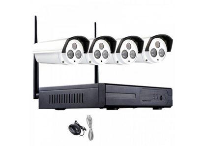 Εικόνα της ΚΑΜΕΡΕΣ  Σετ Ασύρματο Καταγραφικό δικτύου με 4 Κάμερες CCTV Wireless NVR Kit SRS1558 ΟΕΜ
