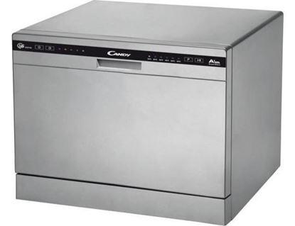 Εικόνα της Πλυντήριο Πιάτων Candy CDCP 6/ES Επιτραπέζιο Ασημί