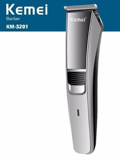 Εικόνα από Αδιαβροχη Επαναφορτιζόμενη Κουρευτική Ξυριστικη Μηχανή KEMEI KM-3201