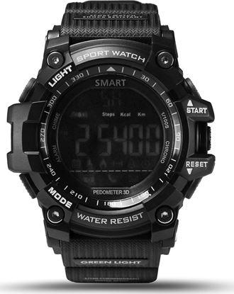 Εικόνα της Αδιάβροχο Sport Smartwatch LCD EX16 Ρολόι Bluetooth με Βηματομετρητή + Θερμιδοετρητή